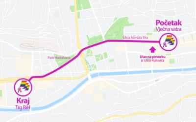 Izmjena režima saobraćaja na dan održavanja prve Bh. povorke ponosa, 08.09.2019.
