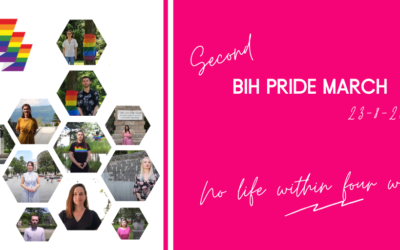 "The Second BiH Pride March Announced: Passing Through the Cities of Bosnia and Herzegovina because ""No life within four walls"""