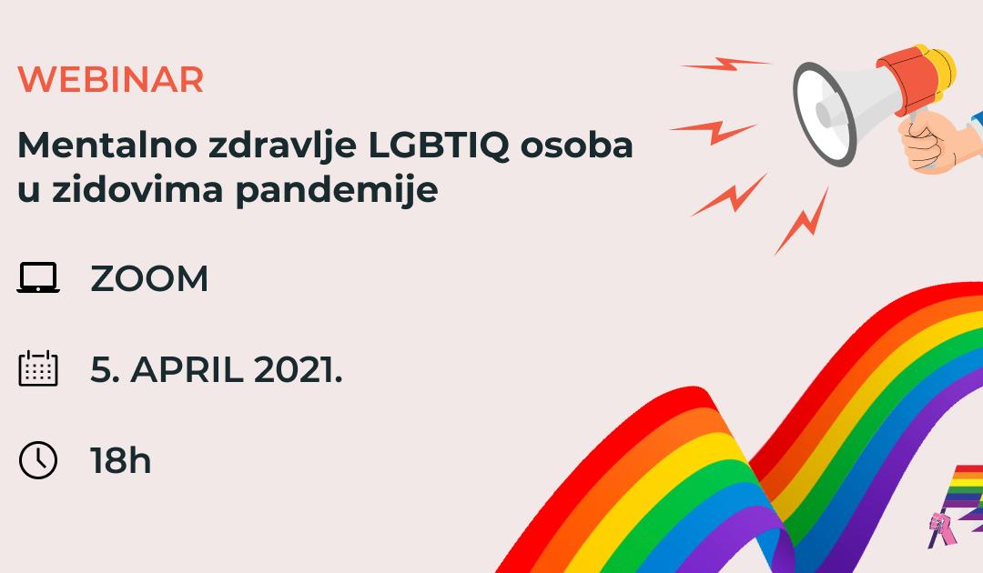 Poziv na razgovor: Mentalno zdravlje LGBTIQ osoba u zidovima pandemije