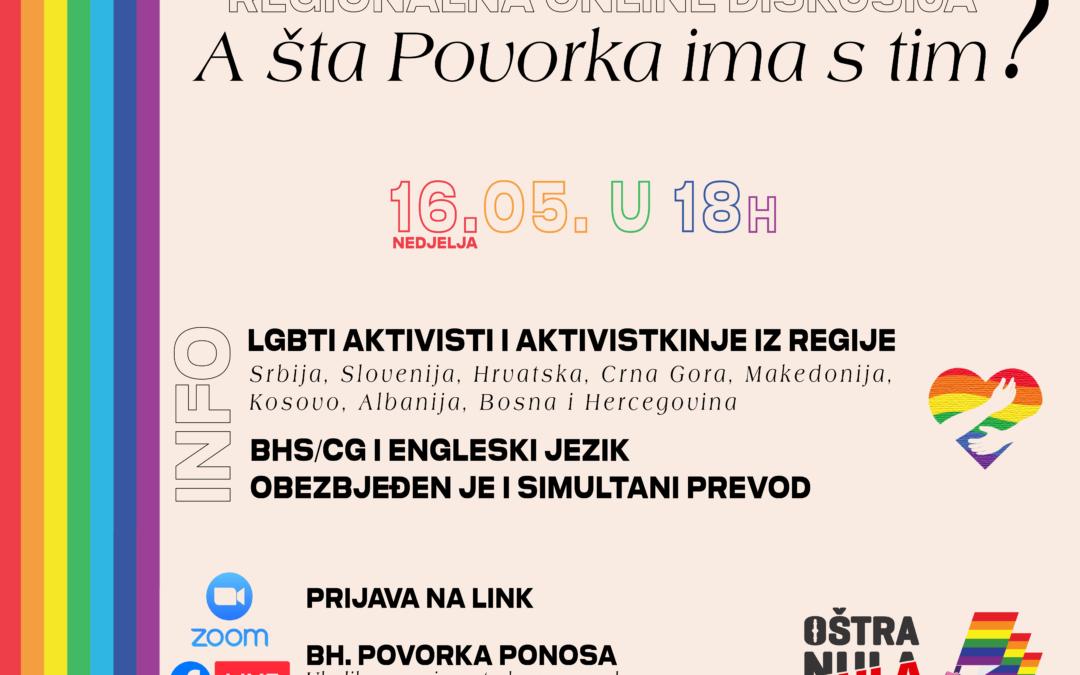 Regionalna online diskusija: A šta Povorka ima s tim?, 16.5. u 18h